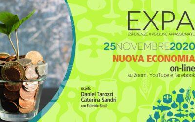 EXPA: Nuova economia in diretta su Zoom mercoledì 25 novembre